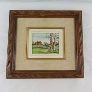 Framed painting signed L. Marchand